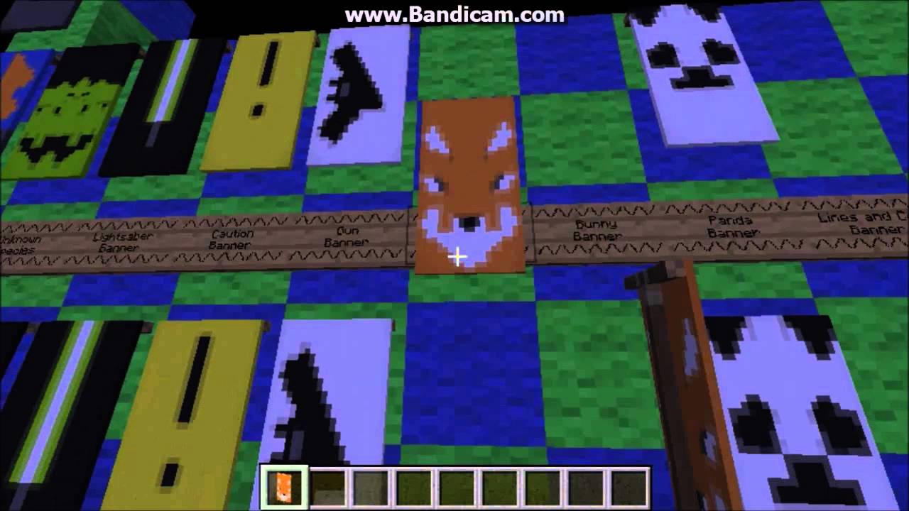 minecraft banner tutorial panda fox bunny and cool one