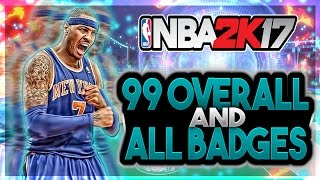 *NEW* NBA 2K17 | INSTANT 99 OVERALL + ALL HOF BADGES :: 99 OVERALL GLITCH