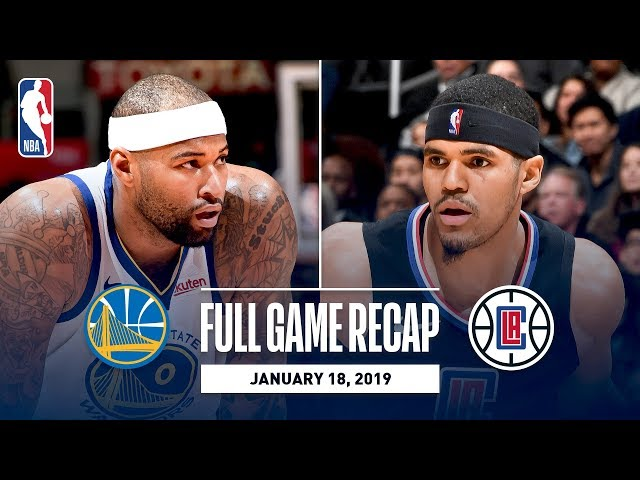 Full Game Recap: Warriors vs Clippers | DeMarcus Cousins First Game With Golden State