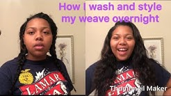 HOW I WASH, AIR-DRY, AND STYLE MY SEW IN (OVERNIGHT EDITION)!