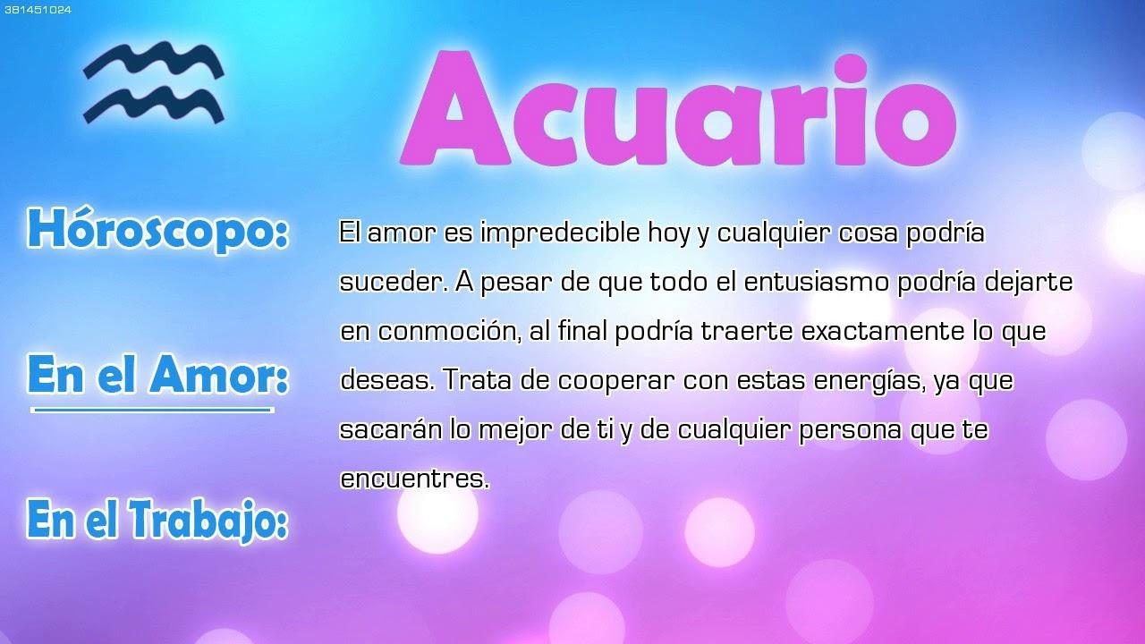 Hor scopo del d a acuario 04 12 2017 youtube for Horoscopo para acuario