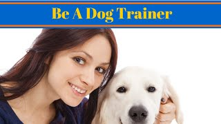 So You Want To Be A Dog Trainer - Careers With Dogs