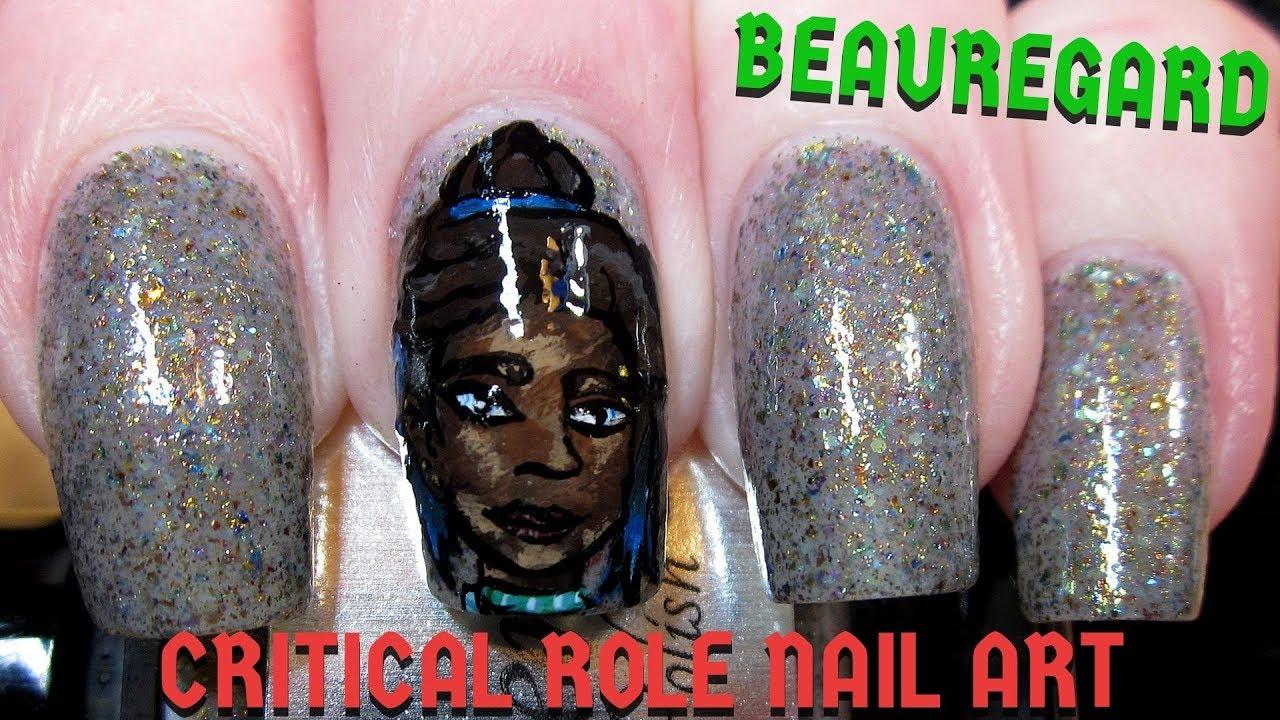How to Paint Beauregard (Critical Role)   DIY Freehand Nail Art Tutorial