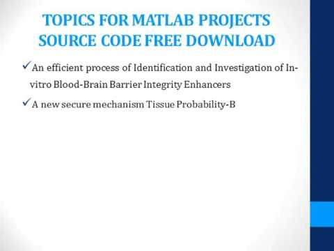 MATLAB PROJECTS SOURCE CODE FREE DOWNLOAD