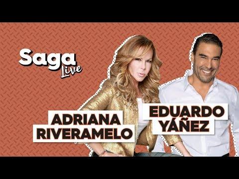 #SagaLive Adriana Riveramelo y Eduardo Yáñez con Adela Micha