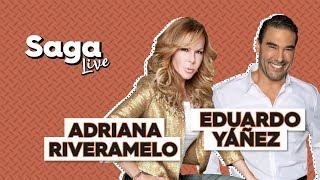 #SagaLive Adriana Riveramelo y Eduardo Yáñez con Adela Micha thumbnail