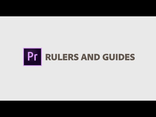 New in Premiere Pro - Rulers and Guides April 2019 | Adobe Creative Cloud