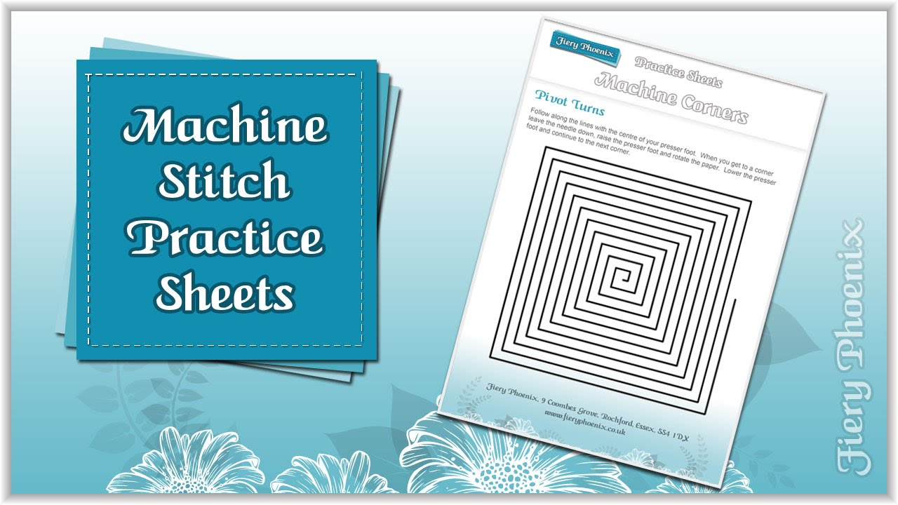 Machine Sewing Practice Sheets :: by Babs at Fiery Phoenix - YouTube
