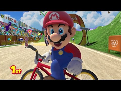 Mario & Sonic at the Rio 2016 Olympic Games - BMX (Gameplay with All Characters)