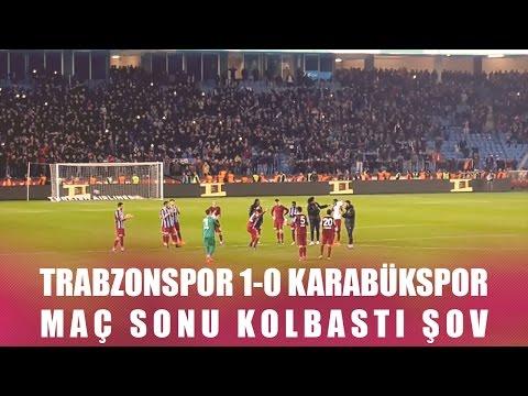 Trabzonspor 1-0 Karabükspor - Maç sonu kolbastı şov (HD)