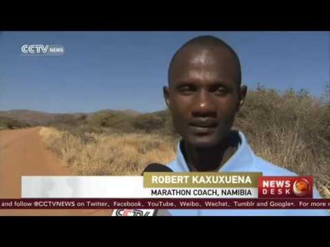 22135 sport CCTV Namibia marathon runner prepares for Rio