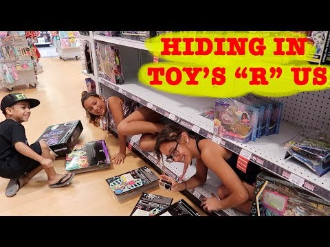 "HIDING AT TOY'S ""R"" US"