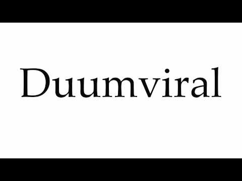 How to Pronounce Duumviral