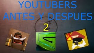 Youtubers antes y despues 2  Cousingamers  Hiper  Steyb up