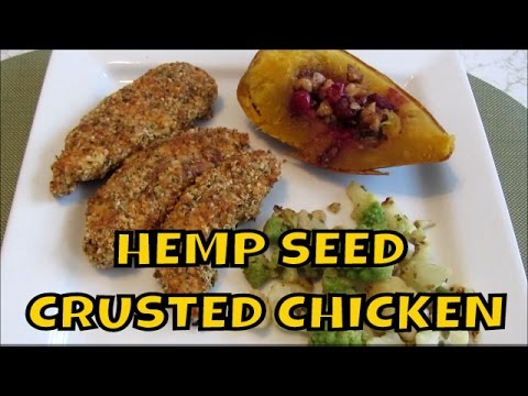 Hemp Seed Heart Crusted Baked Chicken Tenders ~ Gluten Free and Low Carb