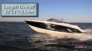 Cruisers Sport Series 328 Bow Rider Test 2014- By BoatTest.com