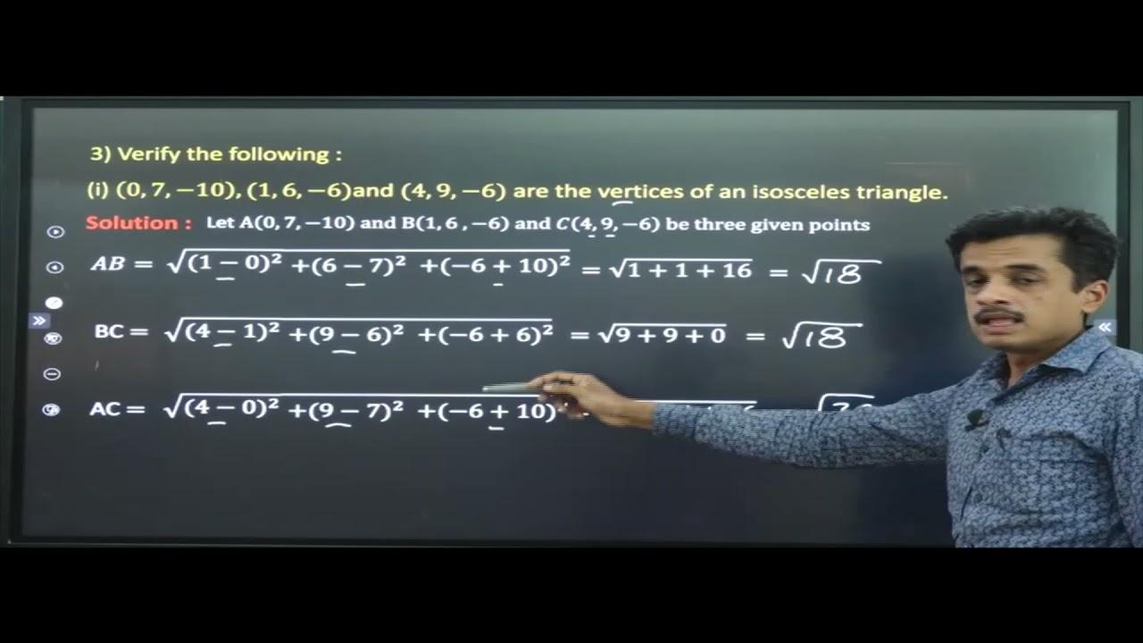 I PUC | MATHEMATICS | INTRODUCTION TO THREE DIMENSIONAL GEOMETRY -02