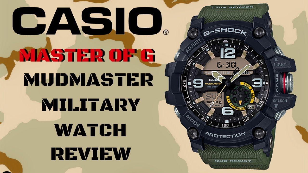 (4K) CASIO G-SHOCK MASTER OF G MUDMASTER MEN'S WATCH ...