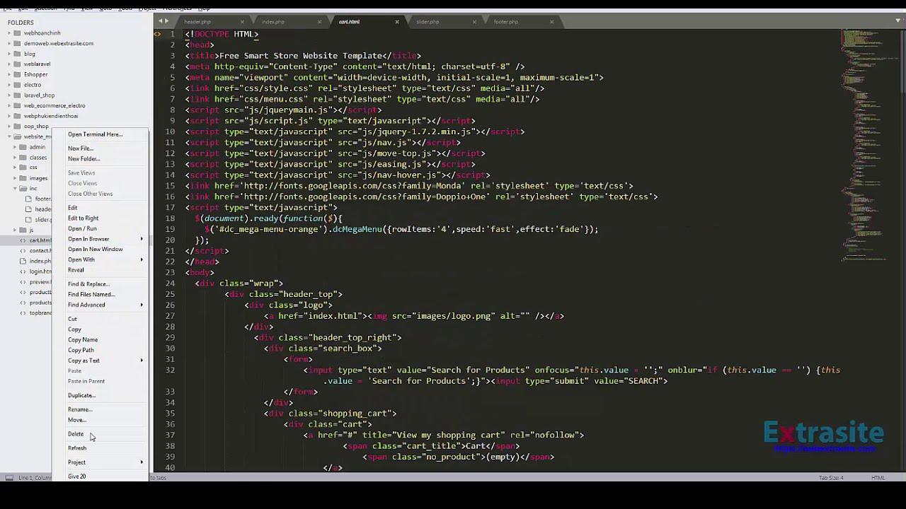 Bài 1 : Lập trình Website PHP mô hình MVC - Download và cài đặt Theme