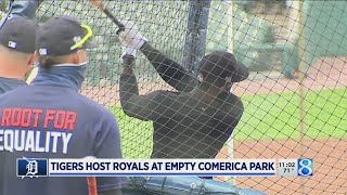 Tigers host Royal at empty Comerica Park