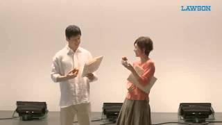 西島秀俊さんと竹内結子さんが、ローソン新商品ののゲンコツコロッケに...