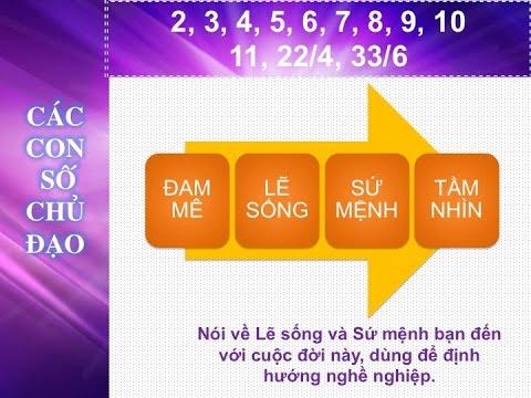 Download Phần 1: Bài Giảng Thần Số Học - Con số chủ đạo và ý nghĩa các con số trong thần số học (Phần cơ bản)