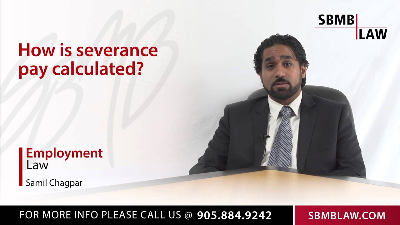 how severance pay is calculated