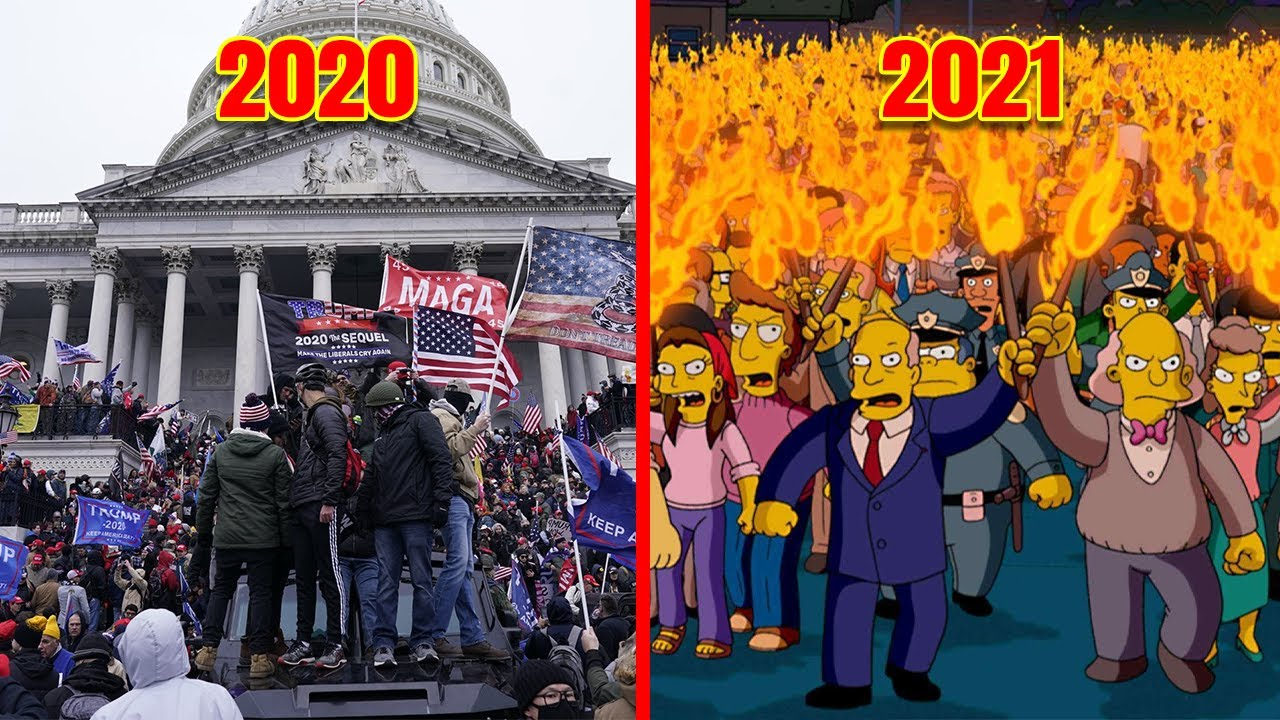 10 Times The Simpsons Predicted The Future (Capitol Riot, Donald Trump & MORE!)
