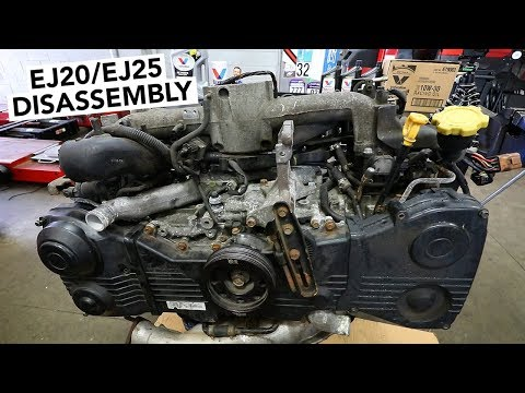 SUBARU Engine Rebuild - EJ20 / EJ25 Teardown How To - YouTube