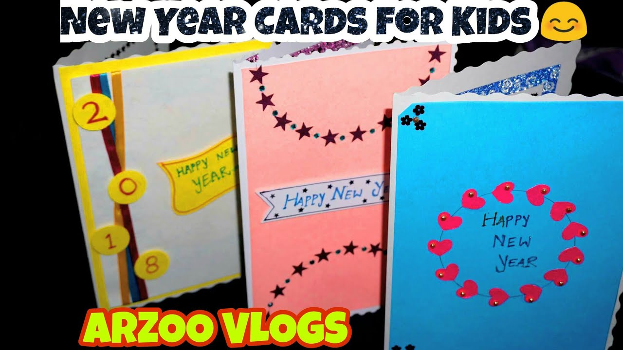 DIY/Cute & Simple New Year Cards | New Year Greeting Card ...