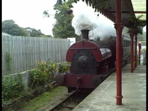 Peckett 0-4-0 Saddle Tank steam locomotive at Pallot Steam Museum on Jersey (UK Channel Island)