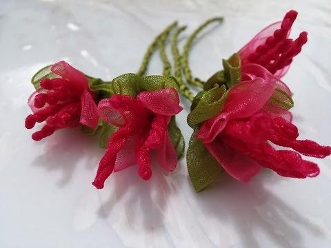 Kurdele Oyaları Yılbaşı çiçeği Yapılışı