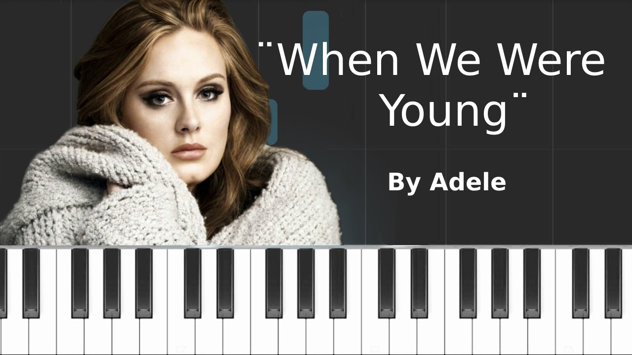 Adele when we were young easy piano tutorial youtube adele when we were young easy piano tutorial hexwebz Image collections
