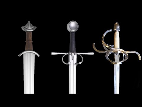 Evolution of swords through the middle ages