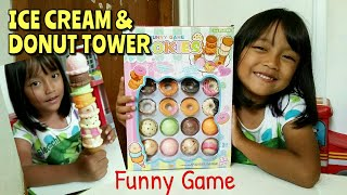 Unboxing ICE CREAM & DONAT TOWER - Review Funny Game Cookies