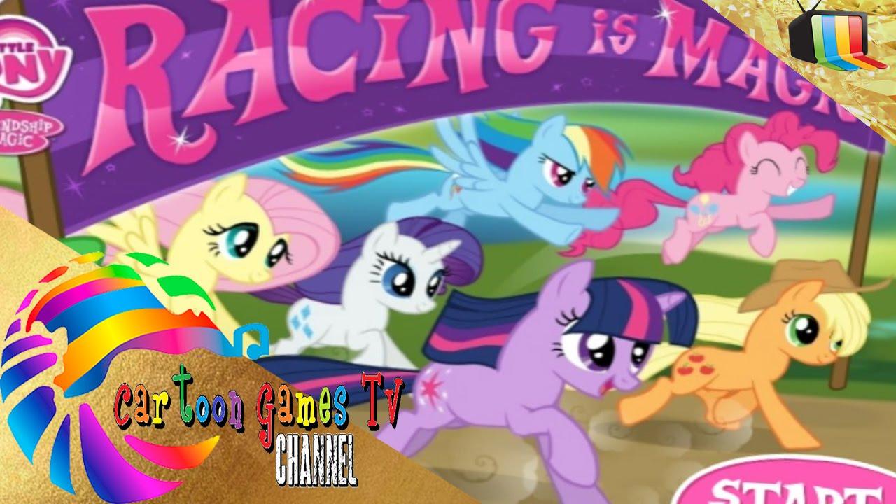 my little pony racing is magic game pony game youtube