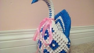 3d Origami: How To Make A Swan (part 1)