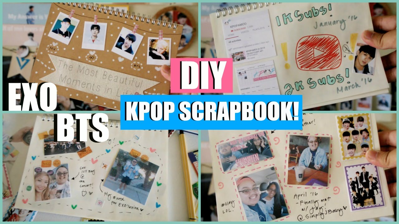 Kpop Diy Scrapbookjournal Exo Bts Etc Kpopamoo Youtube