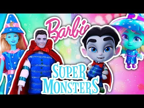 SUPER MONSTERS Toys 🌙 KATYA & DRAC 🧛♂️ turned into BARBIE & KEN! Toy Transformations!