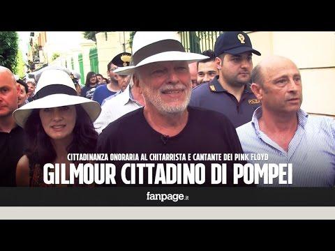 """David Gilmour cittadino onorario di Pompei: """"È bello essere di nuovo a casa"""""""