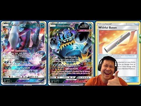 4 Prize KO GUZZLORD GX Deck, Easily Setup 5 Energies Using Darkrai GX + Wish Baton