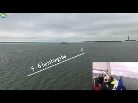Man Overboard under sail - Reach Tack Reach method