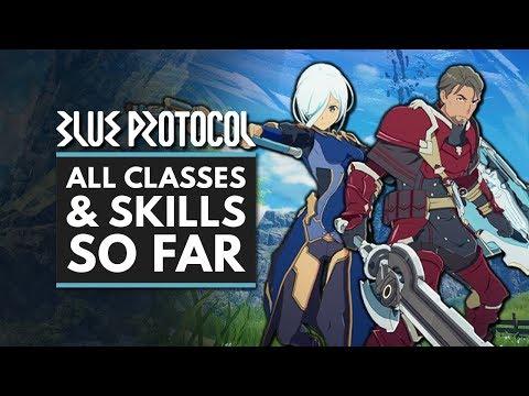 BLUE PROTOCOL | All Classes, Skills & Abilities So Far - Fighter, Striker, Archer & Caster
