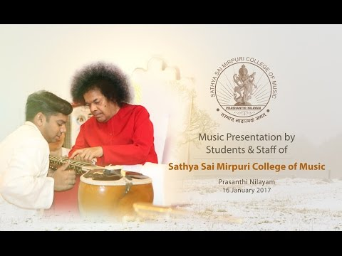 Music Program by the Students & Staff of Sathya Sai Mirpuri College of Music - 16 Jan 2017