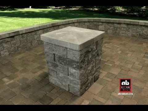 How to build a patio wall post pillar youtube for How to build a house on pillars