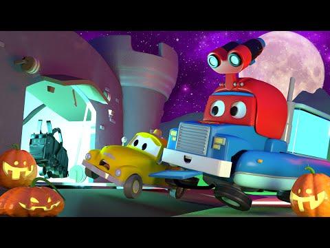 Potwór z placu zabaw podczas HALLOWEEN 🎃 Bajki samochodowe dla dzieci