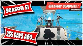 "*THROWBACK* FORTNITE 255 DAYS AGO... ""THE GETAWAY"" GAME MODE"