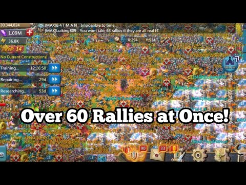 Lords Mobile - On The Defending Side Of Over 60 Rallies At Once With Reports!