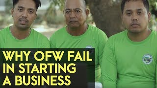 Why OFW fails in starting a business and end up going back abroad