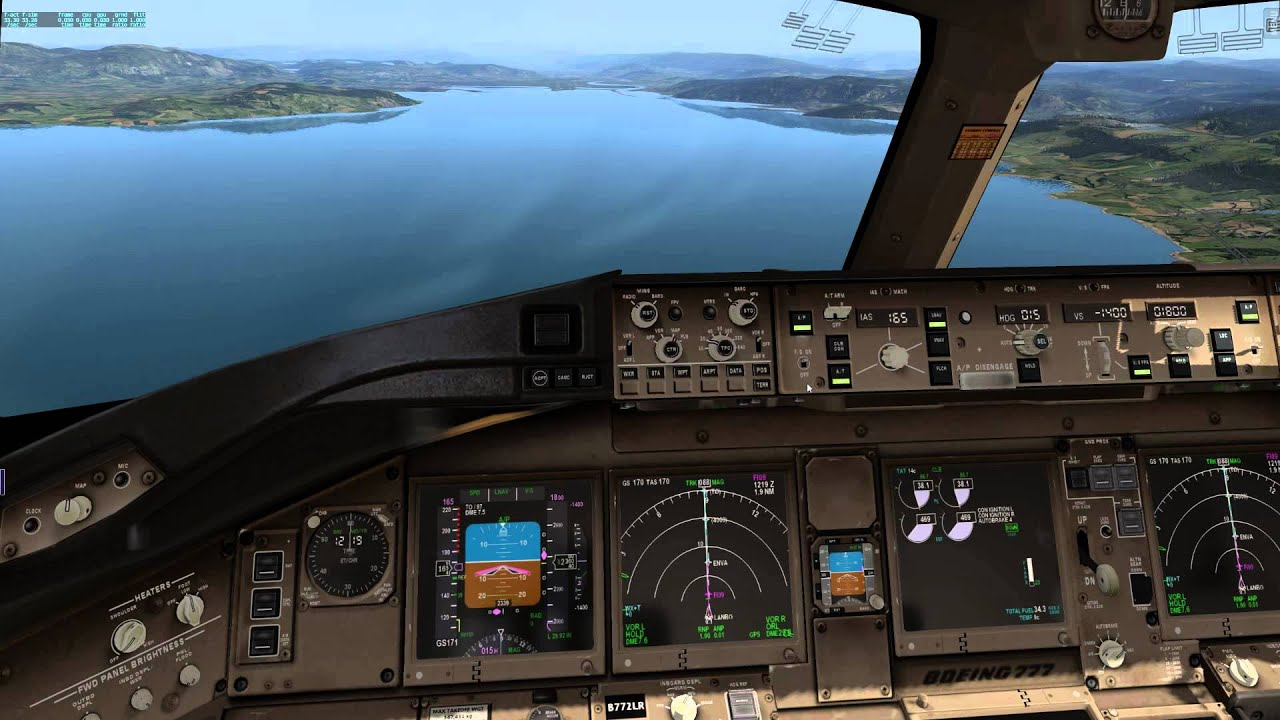 X -Plane 10 - Boeing 777 - Successful ILS autoland - ENVA / Norway